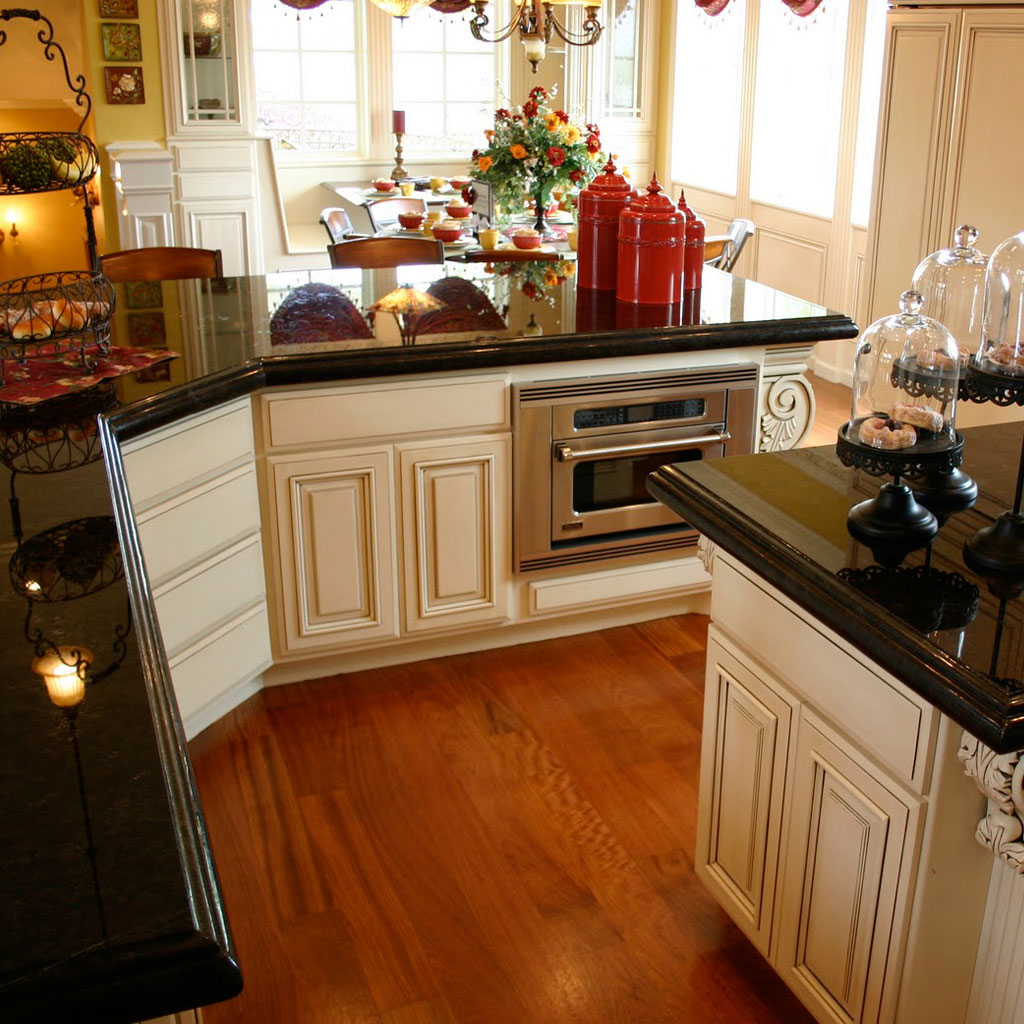 Kitchen Cabinet Colors For Black Countertops the best colors for granite kitchen countertops | advanced granite