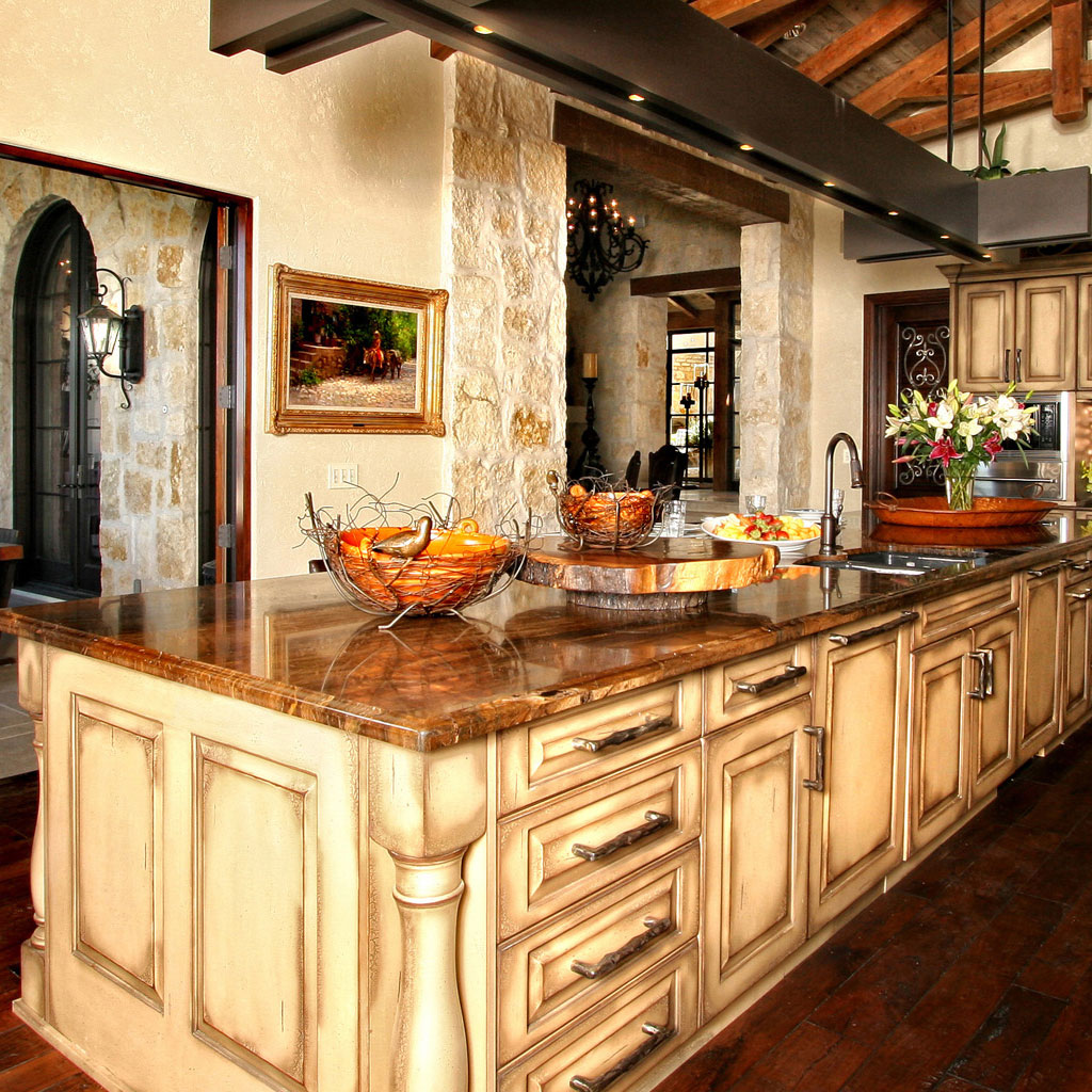 Log Cabin Kitchen Countertops